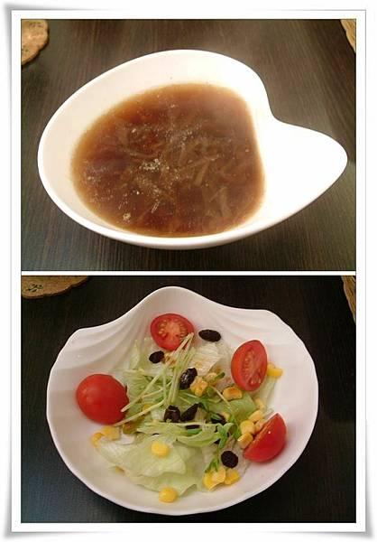套餐附湯及沙拉