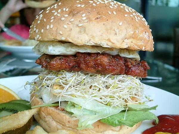 歐式漢堡餐