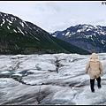 在冰河上散步