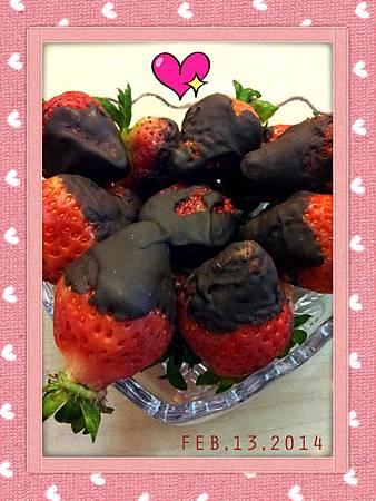 2014/02/13巧克力草莓