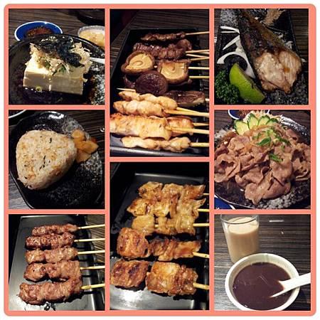中午大吃串燒~好滿足啊!