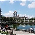 寺前湖景,對面是廈門大學
