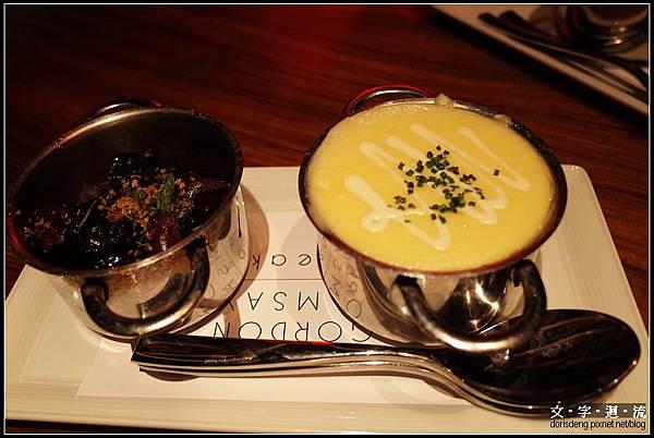 配菜炒菇及馬鈴薯泥