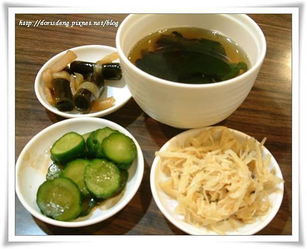 2008年12月14日丼工房餐前小菜及湯