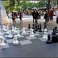街頭的大型西洋棋