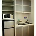 新村Casaville的306號房,有簡單的小廚房,還有鍋碗可用