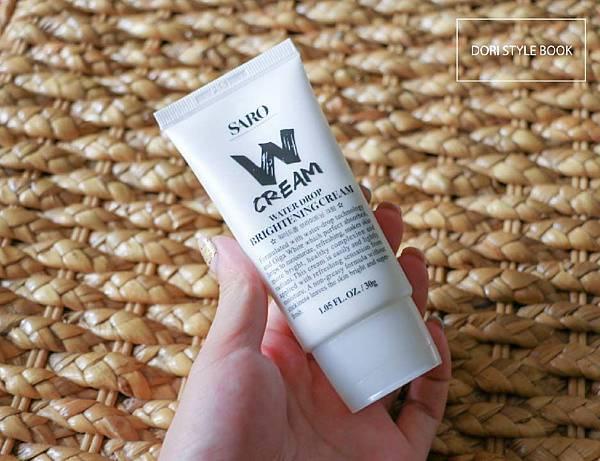 SARO W cream 水粒霜 保濕 亮白