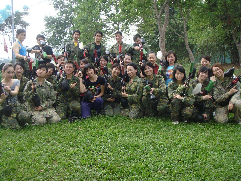 9月Curves戰鬥營漆彈賽