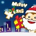 Monkey聖誕桌布