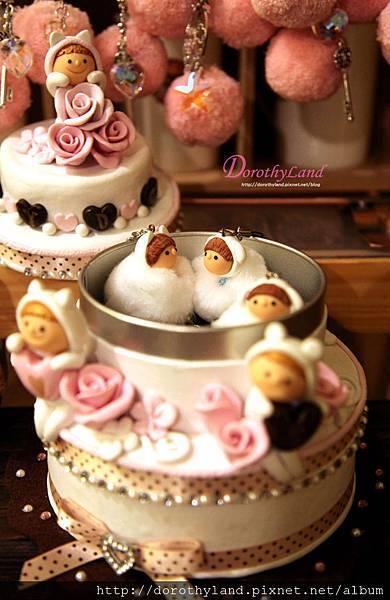 玫瑰蛋糕小物收藏盒(糖盒)