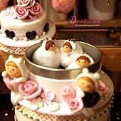 玫瑰蛋糕小物收藏盒(糖盒)C