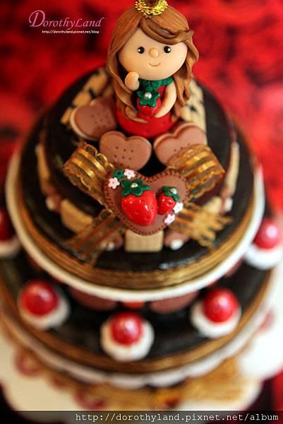 草莓蛋糕小物收藏盒(喜糖盒)C