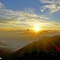 合歡主峰夕陽
