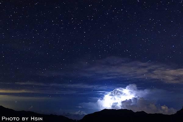 合歡山閃電星星