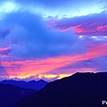 合歡石門山日出雲彩