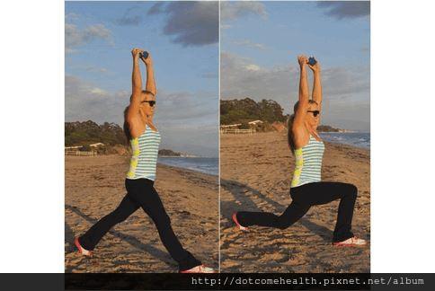 深蹲+弓箭步 5招鍛鍊三頭肌腹肌