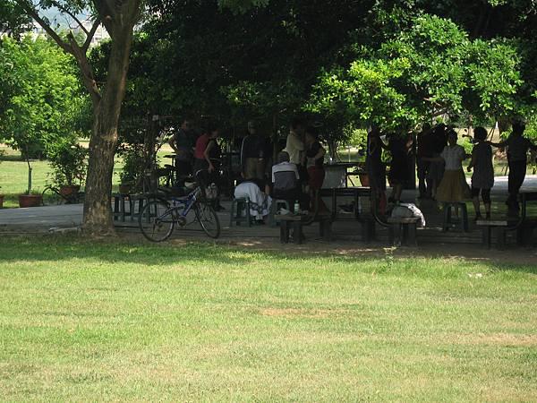 53一群長者在樹林中跳社交舞.JPG