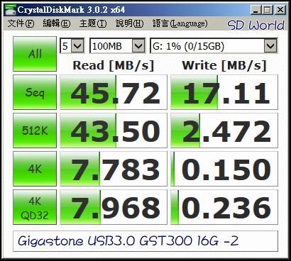 Gigastone USB3.0 GST300 16G -2