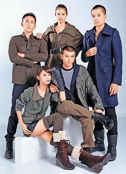 姚元浩、趙駿亞、唐豐、劉香慈和錢柏渝穿上LV、BURBERRY和HOGAN男女軍裝,