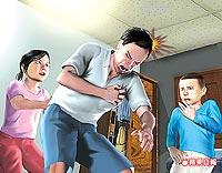 張宏輝因擦傷及胸痛回家休息後竟昏倒,家人將他送醫途中死亡。