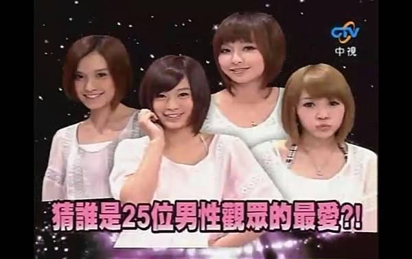2009-04-04 我猜 人不可貌相 俏麗風!!短髮甜心 (猜誰是25位男性觀眾的最愛?!)