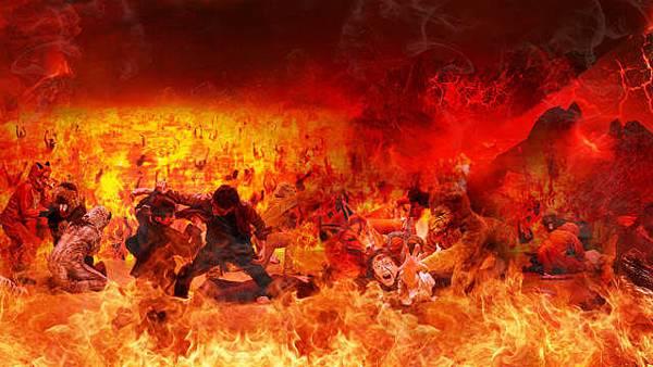 地獄景象概念