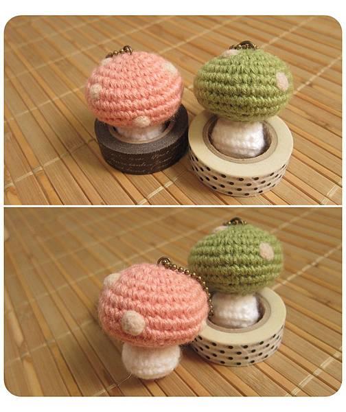 2011週年義賣_F6_毛線_點點小蘑菇吊飾綠_150元.jpg