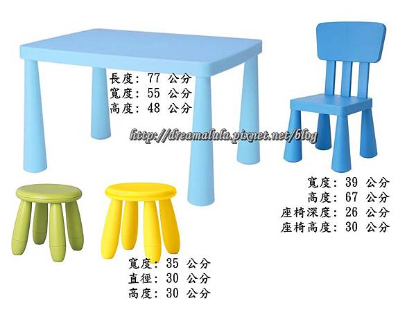 IKEA.MAMMUT兒童桌椅
