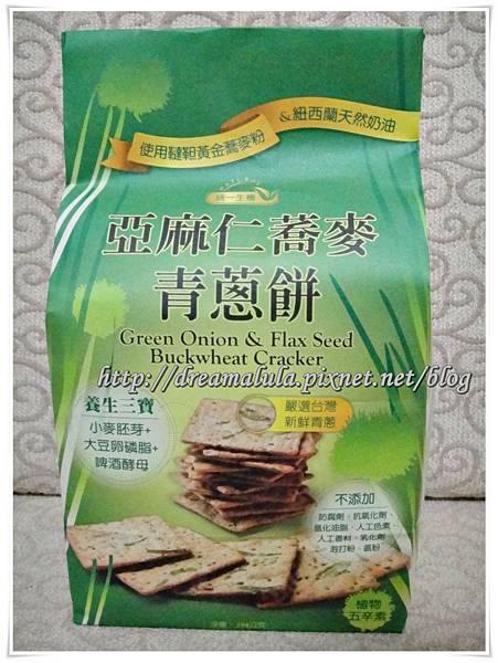 <試吃>統一生機 亞麻仁蕎麥青蔥餅1-1