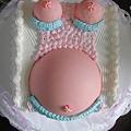 滿月的孕媽咪蛋糕.蠻特別的(訂滿月禮盒送的呦!)