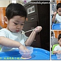 1Y2M8D - 玩湯匙和小碗 99.9.15 (第四次剪髮)