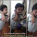 1Y2M4D - 聽電話(還在感冒中...)99.9.11 (光線的關係,拍的有點~~)