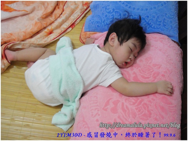 1Y1M30D - 感冒發燒中,終於睡著了!99.9.6