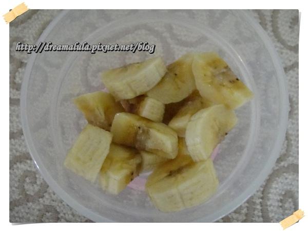 程程外公外婆自己種的香蕉