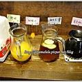 早餐的飲品-鮮奶、柳橙汁、蘋果茶、美式咖啡