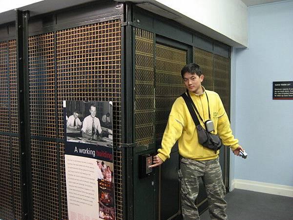 布里斯本市政府鐘樓裡的舊式電梯