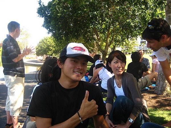 最後一天下午,校外野餐,認識其他等級的學生,也是個不錯的活動