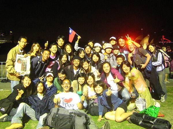 台灣人大集合,大家都很開心,希望大家都有個好年