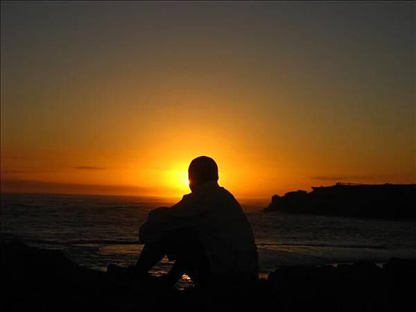 看看海邊的夕陽,難忘的美