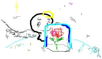 小天使與玫瑰花