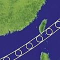 台灣日全食觀測示意圖