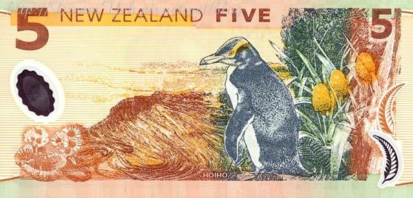 紐西蘭幣背面