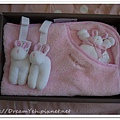 比得兔粉紅色小蓋毯