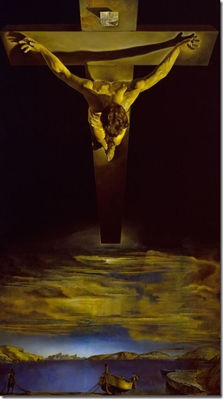《十字架上的聖約翰基督》(St. John of the Cross of Christ by Dali,1951)