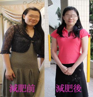 盧志玲減肥前後