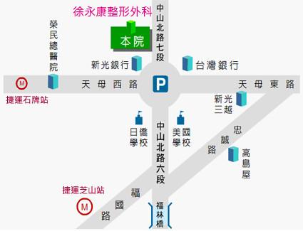 徐永康整形外科診所-地圖