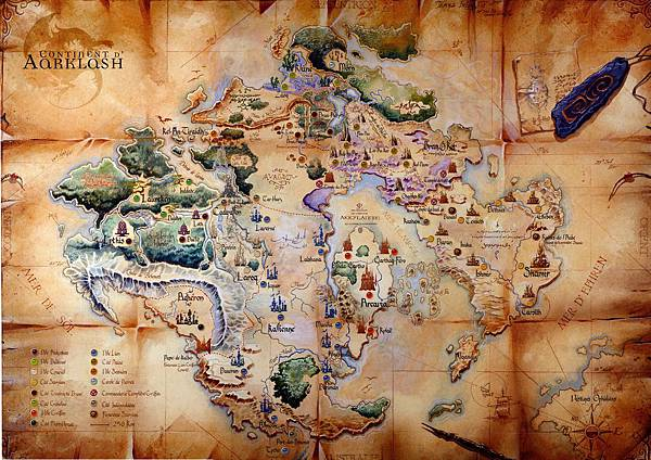 亞克拉緒大陸地圖(Map of Aarklash)