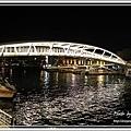 晚上的景觀橋