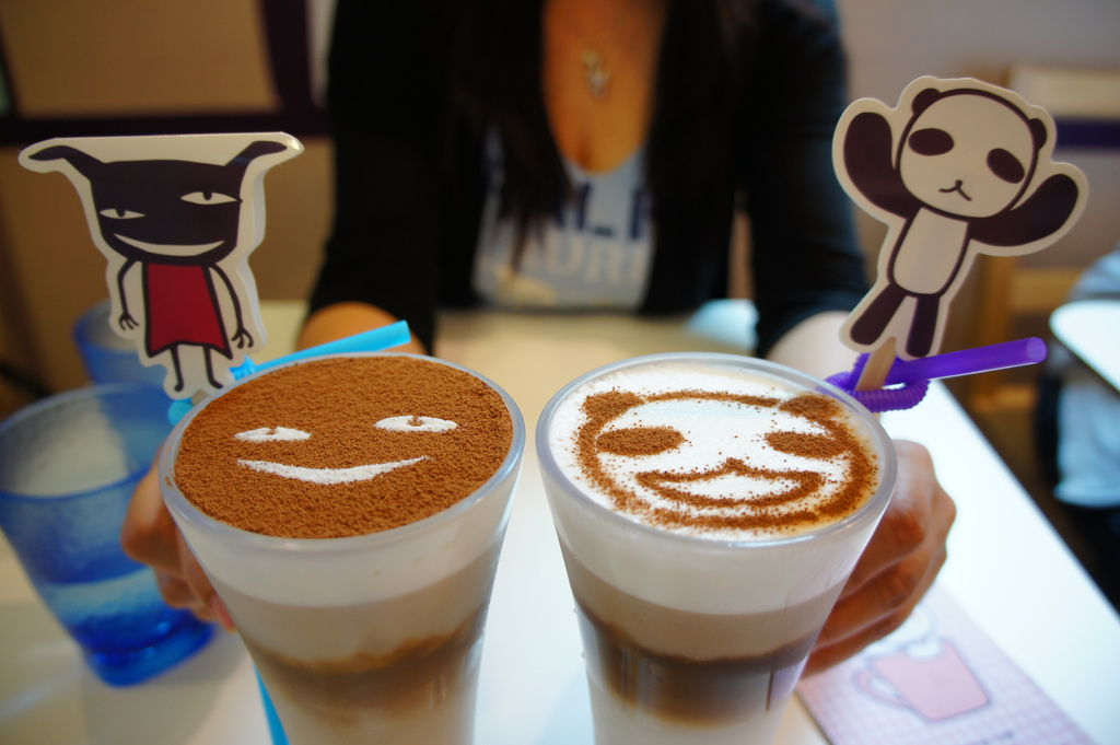 壞東西特調提拉米蘇冰咖啡&熊貓家的冰拿鐵咖啡