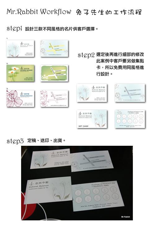 自然平衡餐廳名片設計案例+兔子先生的工作流程